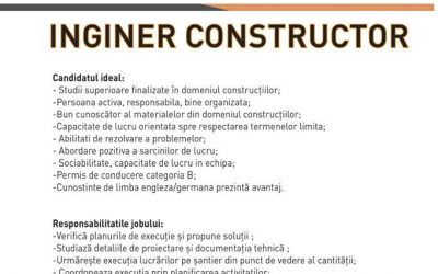 SN DECO angajează inginer constructor