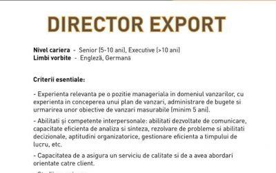 SN Deco Group angajează director export