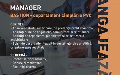 Manager departament tâmplărie PVC – BASTION